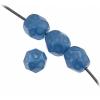Czech Fire polished 6mm Blue On Crystal
